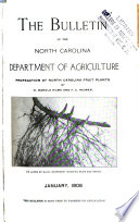The Bulletin Of The North Carolina State Board Of Agriculture