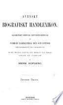Svenskt biografiskt handlexikon