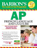 Barron s AP French Language and Culture with Audio CDs