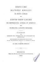 Excerpta e libro Alfredi Anglici De motu cordis item Costa-Ben-Lucae De differentia animae et spiritus