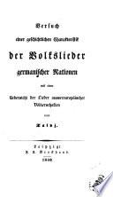 Versuch einer geschichtlichen Charakteristik der Volkslieder germanischer Nationen, von Talvj