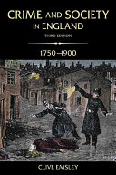 Crime and Society in England  1750 1900