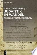 Judaistik im Wandel