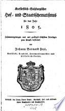 Hochfürstlich-salzburgischer Kirchen- und Hof-Kalender ... samt beygefügtem Schematismo