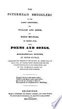 The Peterhead Smugglers Of The Last Century Or William And Annie An Original Melo Drama Also Poems And Songs book