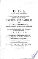 Ode ad diem IV. kal. jan. M.DCC.XCV. ... qua ... dominus Gabriel Zerdahelyi ... capituli Vaciens. Suffragiis ... renunciatus est