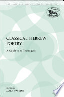 Classical Hebrew Poetry