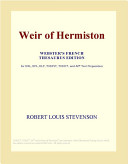 Weir of Hermiston  Webster s French Thesaurus Edition