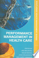 Performance Management In Health Care