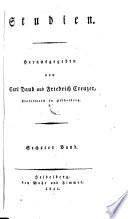 Studien. Herausgegeben von Carl Daub und Friedrich Creuzer