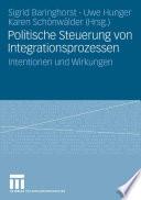 Politische Steuerung von Integrationsprozessen
