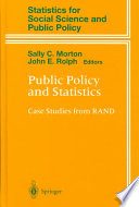 Public Policy and Statistics