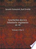 Geschichte des k.k. Infanterie-regiments nr. 41