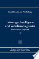 Themenbereich B  Methodologie und Methoden   Psychologische Diagnostik   Leistungs   Intelligenz  und Verhaltensdiagnostik