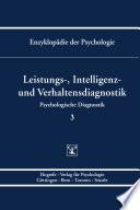 Themenbereich B: Methodologie und Methoden / Psychologische Diagnostik / Leistungs-, Intelligenz- und Verhaltensdiagnostik