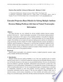 Extended Projection Based Models For Solving Multiple Attribute Decision Making Problems With Interval Valued Neutrosophic Information