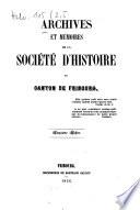 Archives de la Société d'Histoire du Canton de Fribourg