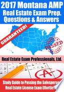 2017 Montana AMP Real Estate Exam Prep Questions  Answers   Explanations