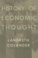 History of Economic Thought Offer A Lively Accessible Discussion Of Ideas