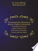 Technologisches W rterbuch deutsch englisch franz sisch