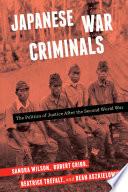 Japanese War Criminals