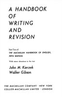 A Handbook of writing and revision