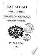 Catalogo della libreria Soranzo Cornaro distribuita per classi