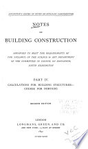 Rivington s Series of Notes on Building Construction