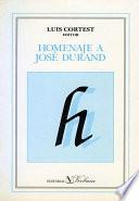 Homenaje a José Durand