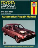 Toyota Corolla Rwd Automotive Repair Manual