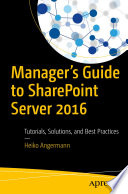 Manager   s Guide to SharePoint Server 2016