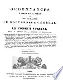 Ordinances Made and Passed by His Excellency the Governor General and Special Council for the Affairs of the Province of Lower Canada