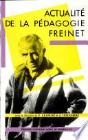 Actualité de la pédagogie Freinet