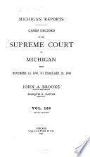 Michigan Reports Advance Sheets