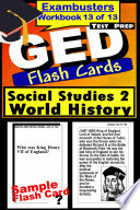 GED Test Prep Social Studies 2  World History Review  Exambusters Flash Cards  Workbook 13 of 13