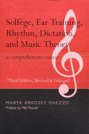 Solfege  Ear Training  Rhythm  Dictation  and Music Theory
