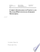 Current knowledge of particulate matter  PM  continuous emission monitoring