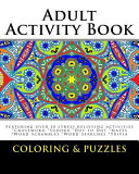 Adult Activity Book Coloring and Puzzles