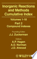 Inorganic Reactions And Methods Cumulative Index Part 1 book
