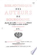 Bibliothèque des auteurs de Bourgogne