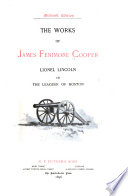 The Works of James Fenimore Cooper  Lionel Lincoln