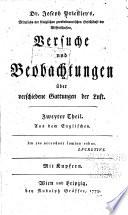 Dr. Joseph Priestley's Versuche und Beobachtungen über verschiedene Gattungen der Luft