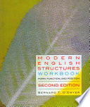 Modern English Structures Workbook  second edition