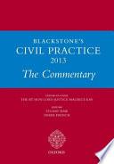 Blackstone's Civil Practice 2013: The Commentary