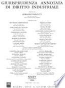 Giurisprudenza annotata di diritto industriale (2006)