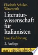 Literaturwissenschaft f  r Italianisten