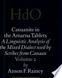 Canaanite In The Amarna Tablets 2 Morphosyntactic Analysis Of The Verbal System
