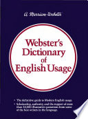 Webster S Dictionary Of English Usage