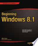 Beginning Windows 8 1
