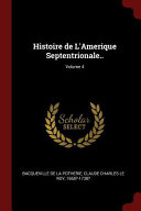 Histoire de L Amerique Septentrionale